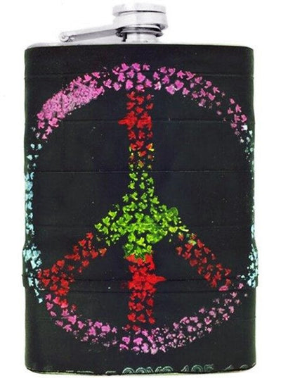 """Peace"" Recycled Bicycle Rubber Flask by The 3 Sisters Design Co. - www.inkedshop.com"