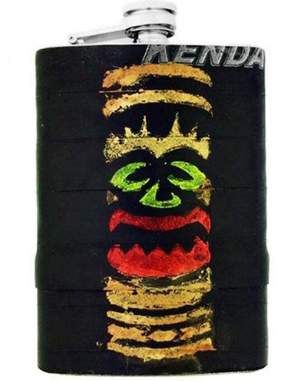 """Tiki"" Recycled Bicycle Rubber Flask by The 3 Sisters Design Co. - www.inkedshop.com"