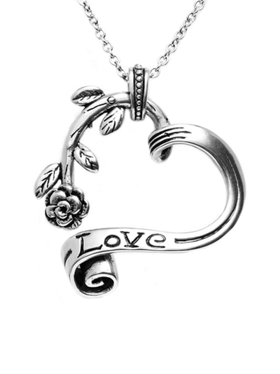 """Garden Heart"" Necklace by Controse (Silver Tone) - InkedShop - 3"