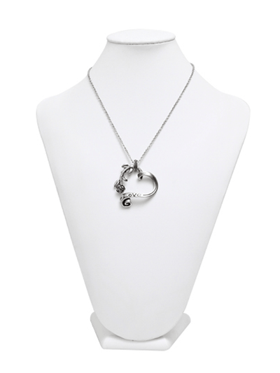 """Garden Heart"" Necklace by Controse (Silver Tone) - InkedShop - 4"
