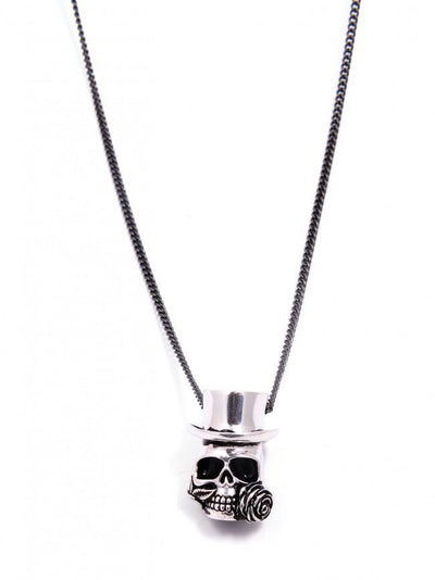 """Baron Samedi Skull"" Necklace by Lost Apostle (Antique Silver) - InkedShop - 2"
