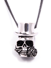 """Baron Samedi Skull"" Necklace by Lost Apostle (Antique Silver) - InkedShop - 1"