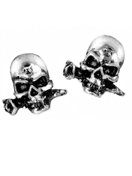 """Miniature Alchemist Skull"" Stud Earrings by Alchemy of England - InkedShop - 1"