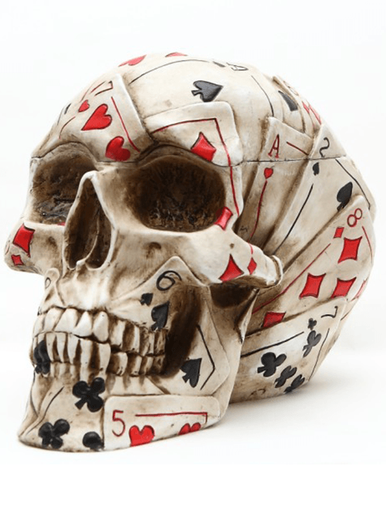 """Poker"" Skull by Pacific Trading - www.inkedshop.com"
