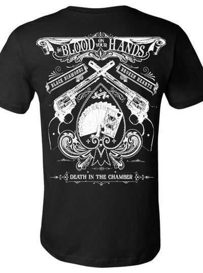 "Men's ""Blood on Your Hands"" Tee by Se7en Deadly (Black) - www.inkedshop.com"