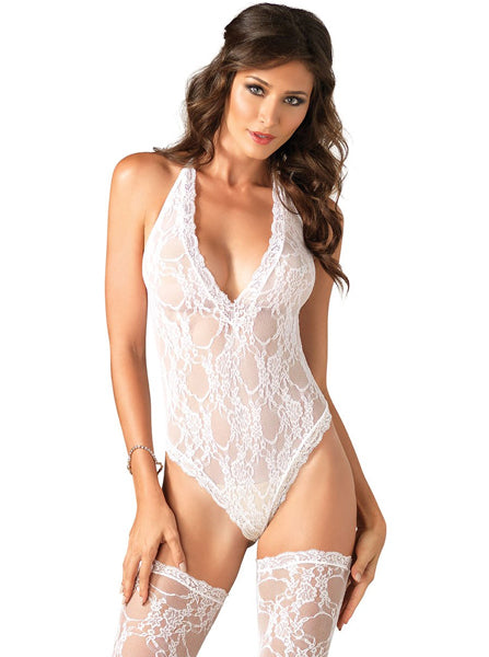 Women's Floral Lace Teddy Suit by Leg Avenue