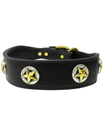 """Lonestar"" Leather Collar by Mirage Pet Products (Multiple Options) - www.inkedshop.com"
