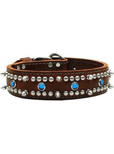 """Jewel"" Leather Collar by Mirage Pet Products (Multiple Options) - www.inkedshop.com"