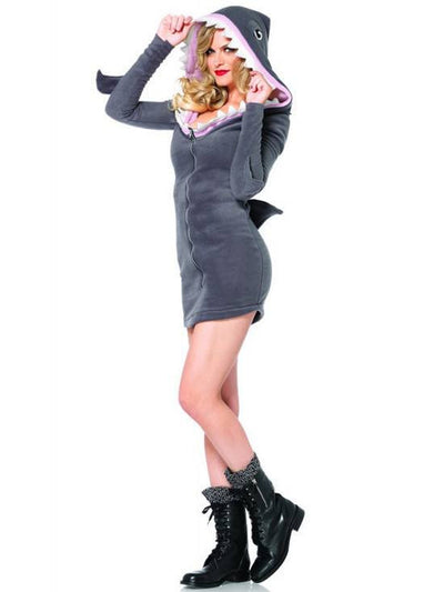 "Women's ""Cozy Shark"" Costume by Leg Avenue (Grey) - www.inkedshop.com"