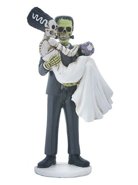Frankenskull And Bride Statue by Summit Collection - www.inkedshop.com
