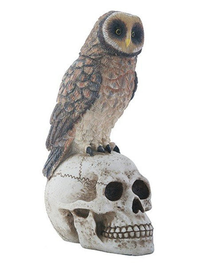 Owl On Skull Statue by Summit Collection - www.inkedshop.com