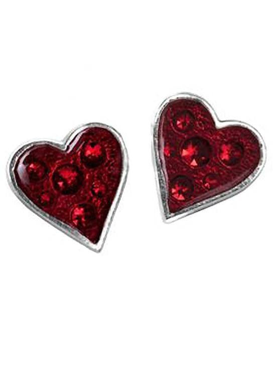 """Heart's Blood"" Stud Earrings with Swarovski Crystals by Alchemy of England - InkedShop - 1"