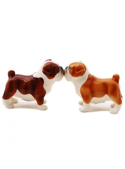 """Bulldog"" Salt and Pepper Set by Pacific Trading - www.inkedshop.com"