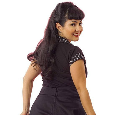 "Women's ""Tailored Top"" by Pinky Pinups (Black) - www.inkedshop.com"