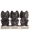 """No Evil Gargoyles"" Salt & Pepper Shaker w/ Toothpick Holder by Pacific Trading - www.inkedshop.com"