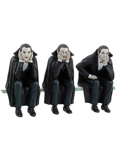 """Vampires Speak, See, Hear No Evil"" Shelf Sitters by Pacific Trading - www.inkedshop.com"