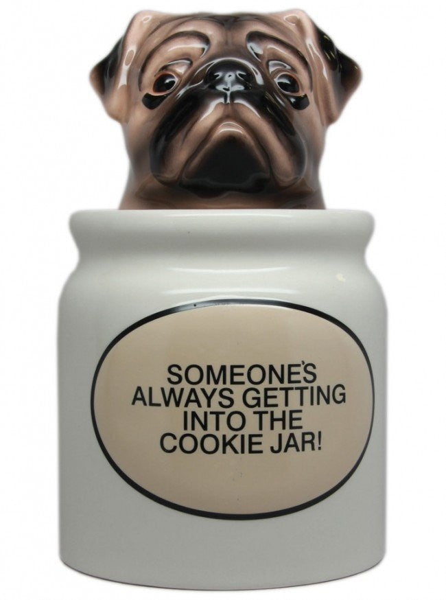 """Pugs"" Cookie Jar by Pacific Trading - www.inkedshop.com"