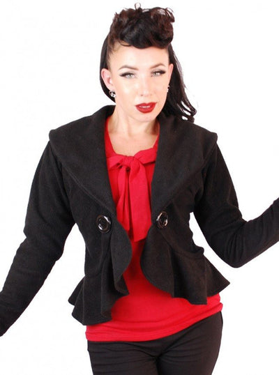 "Women's ""Sailor"" Cadigan Jacket by Pinky Pinups (Black) - www.inkedshop.com"