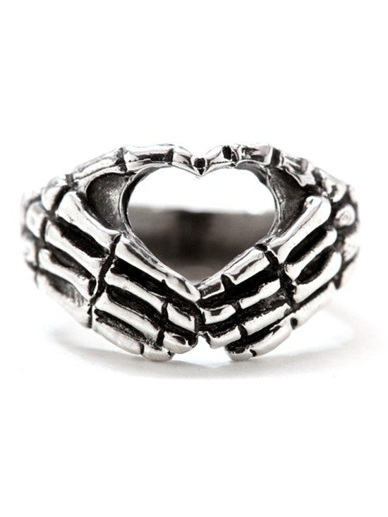 """Hand Heart"" Ring by Blue Bayer Design (Sterling Silver) - InkedShop - 1"