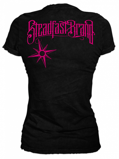"Women's ""Tattoos are Forever Diamond"" Tee by Steadfast Brand (Black/Pink) - InkedShop - 3"