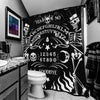 Skeleton Ouija Board Shower Curtain by Too Fast