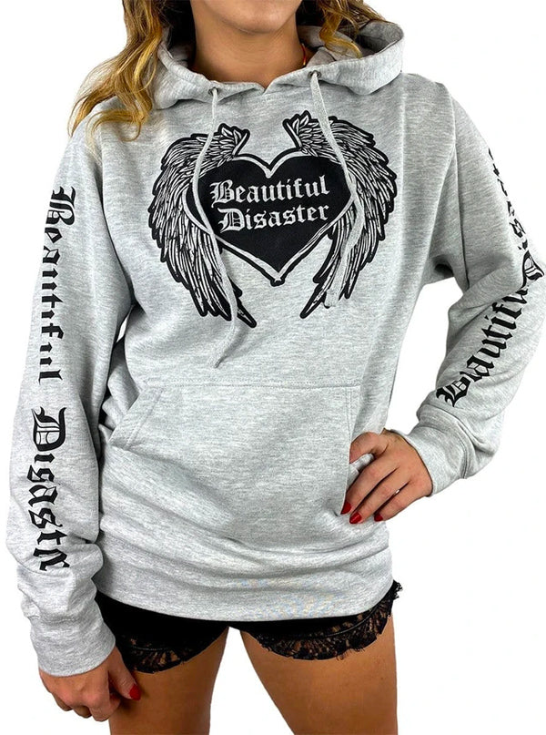 Women's Angel Hoodie by Beautiful Disaster