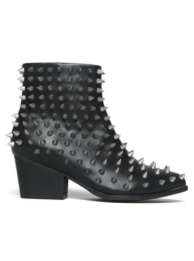 "Women's ""Aurora Spike"" Boot by YRU (Black) - www.inkedshop.com"