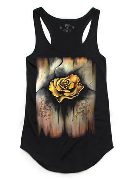 "Women's ""AmberRain"" Tank by 7th Revolution (Black) - www.inkedshop.com"