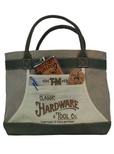 """Hardware & Tools"" Apron Tote Bag by Trixie & Milo - www.inkedshop.com"