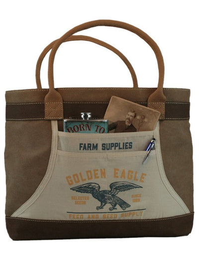 """Golden Eagle"" Apron Tote Bag by Trixie & Milo - www.inkedshop.com"