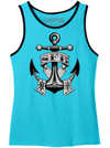 "Men's ""SFB Anchor"" Tank by Steadfast Brand (Aqua)"