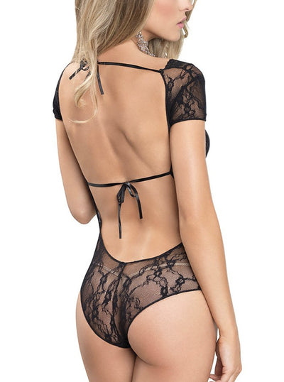 Women's Floral Lace Backless Teddy by Leg Avenue