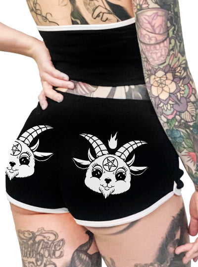 Women's Baby Baphomet Shorts by Too Fast