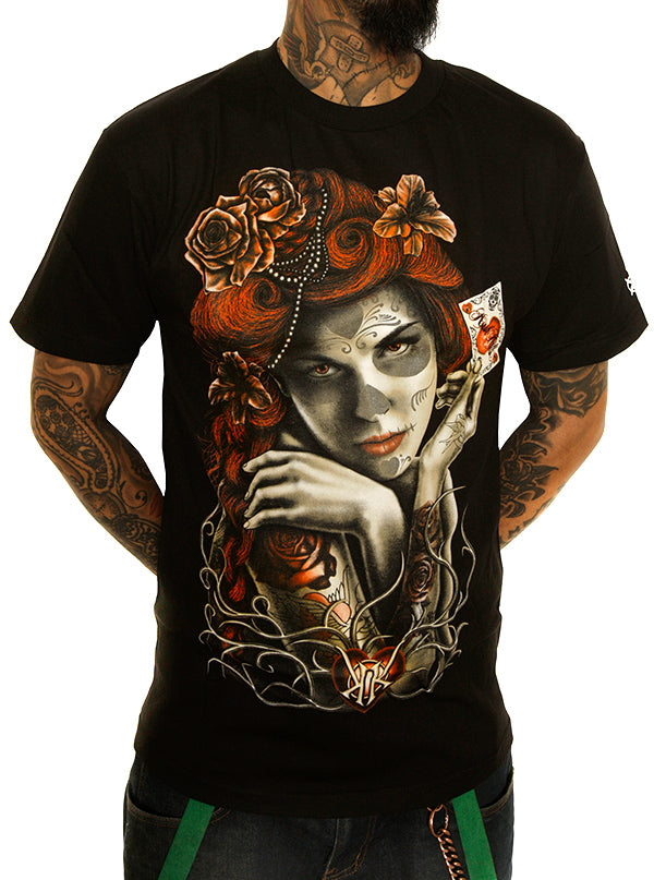 Men's Heart of Beauty Tee by Kush Kills Clothing (Black)