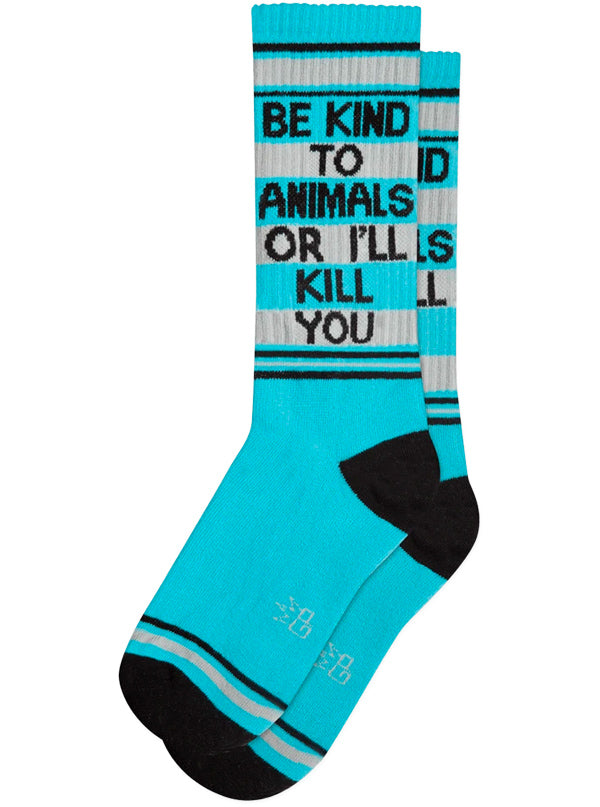 Unisex Be Kind to Animals Ribbed Gym Socks