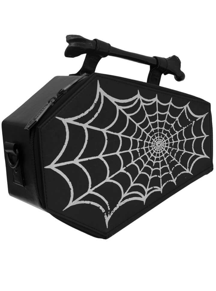 284daaa7eb6b07 Spiderweb Foil Coffin Purse Bag by Kreepsville 666 - www.inkedshop.com