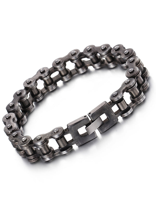 "Men's ""Bike Chain"" Bracelet (Stainless Steel)"