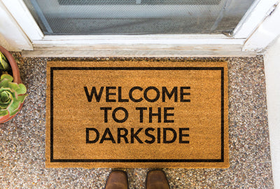 """Welcome to the Darkside"" Doormat by Bison"