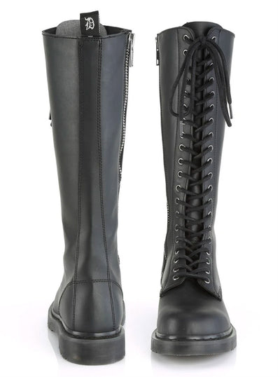 Unisex Bolt 400 Knee High Combat Boot by Demonia