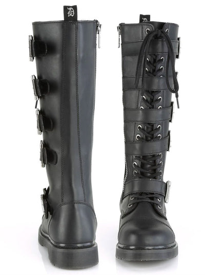 Unisex Bolt 425 Knee High Combat Boot by Demonia