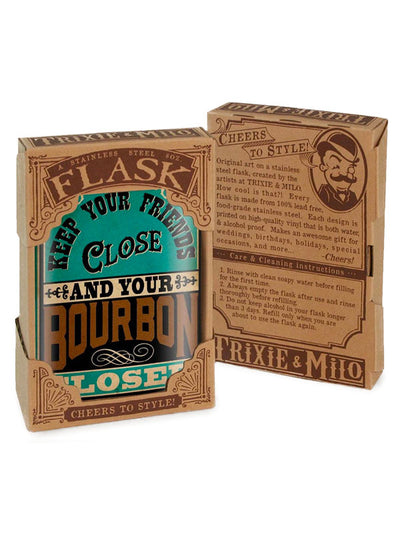 Keep Your Bourbon Closer Flask by Trixie & Milo