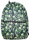 """SKULL PILE"" ALL OVER PRINT BACKPACK (Green)"