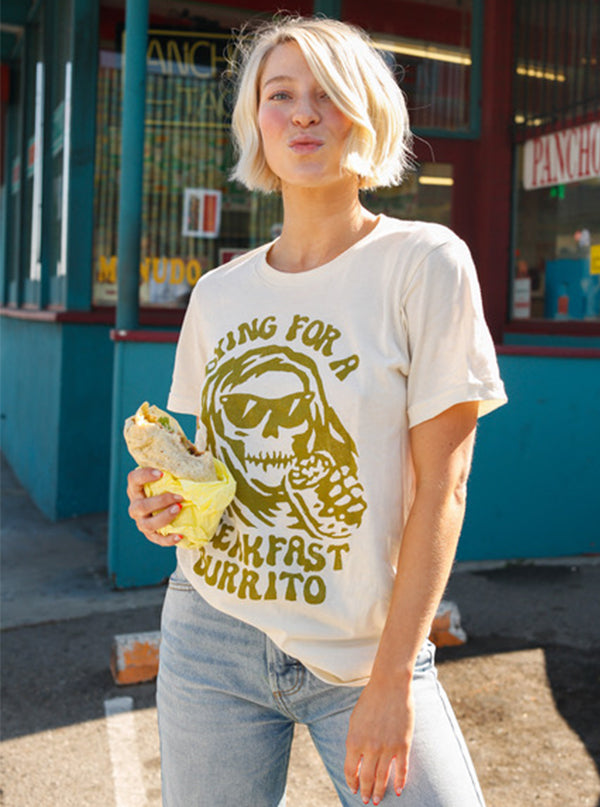 Unisex Dying for a Breakfast Burrito Tee by Pyknic