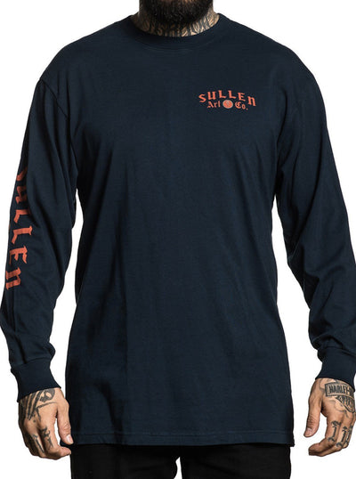 "Men's ""Bydin"" Long Sleeve Tee by Sullen (Navy)"