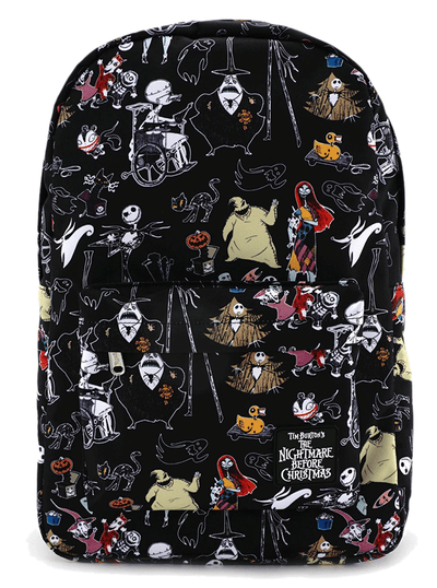Character Print Backpack by Loungefly x Nightmare Before Christmas