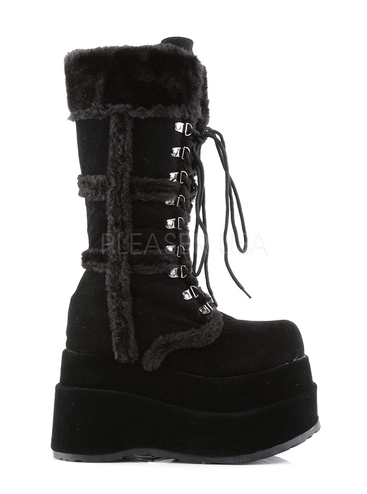 Women's Bear 202 Vegan Suede Boot by Demonia