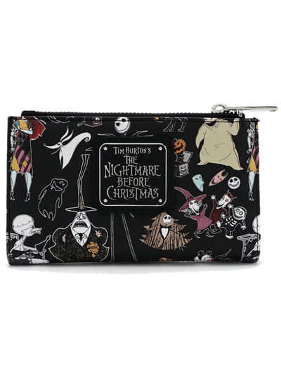 """Character Print"" Bi-Fold Wallet by Loungefly x Nightmare Before Christmas (Black)"