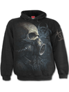 "Men's ""Bio Skull"" Hoodie by Spiral USA (Black)"