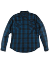 "Men's ""Racing"" Plaid Long Sleeve by Lethal Threat (Blue)"