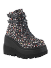 "Women's ""Shaker-52st"" Wedge Platform Ankle Boot by Demonia (Black)"